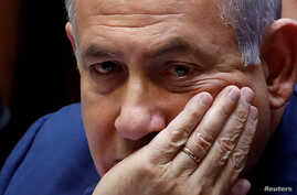 Israeli Prime Minister Benjamin Netanyahu sits at the plenum at the Knesset, Israel's parliament, in Jerusalem, May 30, 2019.