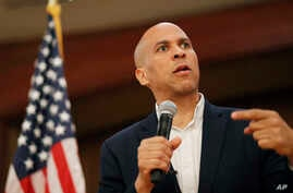 FILE - Democratic presidential candidate Sen. Cory Booker speaks at a campaign event in Henderson, Nevada, May 28, 2019.