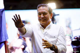 Presidential candidate Laurentino Cortizo of the Democratic Revolutionary Party (PRD) smiles after Panama's electoral tribunal declared him as the winner of Sunday's election with 95 percent of votes counted, in Panama City, Panama, May 5, 2019.