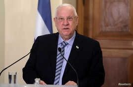 FILE - Israeli President Reuven Rivlin talks during a press conference at the Presidential Palace in Nicosia, Cyprus, Feb. 12, 2019.