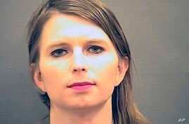 FILE - Chelsea Manning is shown in this undated booking photo provided by the Alexandria (Va.) sheriff's office.