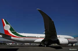 FILE - Mexican Air Force Presidential Boeing 787-8 Dreamliner is pictured at a hangar at Benito Juarez International Airport in Mexico City, Mexico, Dec. 3, 2018.