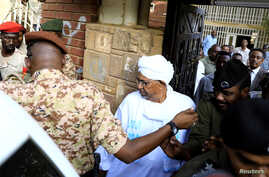 Sudan's ex-president Omar al-Bashir leaves the office of the anti-corruption prosecutor in Khartoum, Sudan, June 16, 2019.