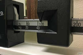A photo shows a closeup of a beam scale in a Federal building in Washington, DC, June 18, 2019. (Photo: Diaa Bekheet). Preschoolers on government food aid have grown a little less pudgy, a U.S. study found.