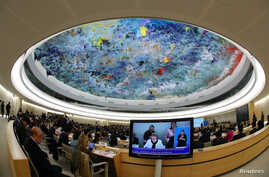 U.N. High Commissioner for Human Rights Michelle Bachelet is seen at a session of the Human Rights Council at the United Nations in Geneva, Switzerland, March 6, 2019.