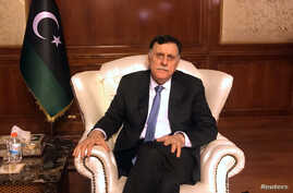 Libya's internationally recognized Prime Minister Fayez al-Serraj is seen during an interview with Reuters at his office in Tripoli, Libya, June 16, 2019.