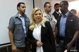 Israeli Prime Minister Benjamin Netanyahu's wife, Sara, arrives in court for a hearing on a plea deal over the misuse of public funds, in Jerusalem, June 16, 2019.