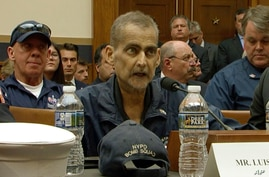 Image from video shows Retired NYPD Detective and 9/11 Responder Luis Alvarez speaking during a House Judiciary Committee hearing to consider permanent authorization of the Victim Compensation Fund, Capitol Hill, Washington, June 11, 2019.