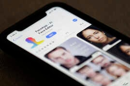 FaceApp is displayed on an iPhone, July 17, 2019, in New York.