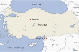 Map of Reyhanli, Turkey