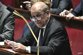 French Foreign Affairs Minister Jean-Yves Le Drian attends a session of questions to the government at the French National Assembly in Paris, July 23, 2019.