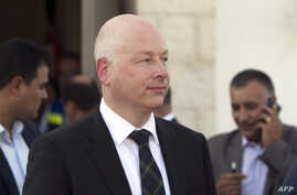 U.S. special envoy Jason Greenblatt attends the launch of a project to improve access to wastewater treatment and water for Palestinian farmers, Oct. 15, 2017, in the city of Jericho, in the Israeli-occupied West Bank.