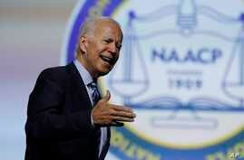 Democratic presidential candidate former Vice President Joe Biden, speaks during a candidates forum at the 110th NAACP National Convention, July 24, 2019, in Detroit.
