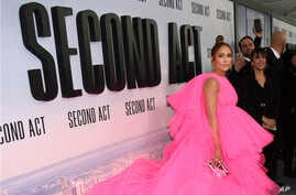 "FILE - Jennifer Lopez attends the world premiere of ""Second Act"" at Regal Union Square Stadium 14 in New York, Dec. 13, 2018."