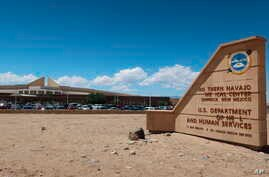 This Aug. 12, 2019 photo shows the Northern Navajo Medical Center in Shiprock, New Mexico. A recent federal audit  found the hospital was one of a handful run by the Indian Health Service that put patients at increased risk for opioid abuse and overdoses.