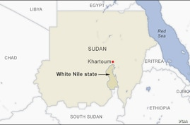 Map of White Nile state, Sudan