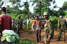 Congolese soldiers patrol in an area civilians were killed by Allied Democratic Forces rebels, in Beni, eastern Democratic Republic of the Congo, Oct 5, 2018.