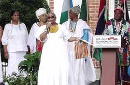 Commemoration of 400th anniversary of slavery in Norfolk, VA, Aug 24, 2019