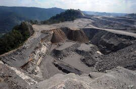 A mountaintop removal mining site at Kayford Mountain, W.Va.