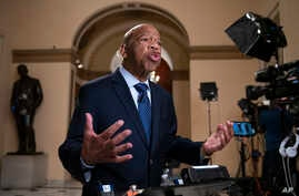 Rep. John Lewis, D-Ga., condemns remarks by President Donald Trump directed at four Democratic women of color who serve in the House, during an interview at the Capitol, July 16, 2019.