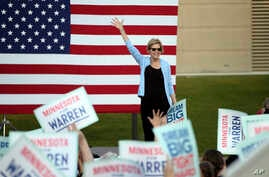 Democratic presidential candidate Elizabeth Warren, D-Mass., speaks during a rally Monday, Aug. 19, 2019