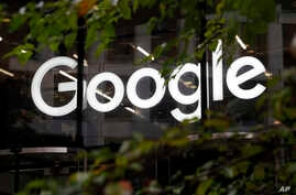 FILE -  The Google logo is seen at Google offices in Granary Square, London, Nov. 1, 2018.