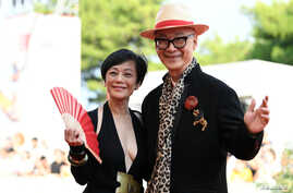"""Director Yonfan and actor Sylvia  at The 76th Venice Film Festival for Animated film """"Ji Yuan Tai Qi Hao (No. 7 Cherry Lane)"""" in Venice, Italy September 2, 2019."""