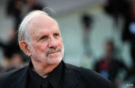 "U.S. director Brian De Palma arrives Aug. 29, 2019 for the screening of the film ""Marriage Story"" during the 76th Venice Film Festival at Venice Lido."