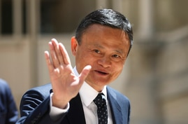 FILE - Founder of Alibaba group Jack Ma arrives for the Tech for Good summit in Paris, France, May 15, 2019. Ma recently stepped down as chairman of the e-commerce giant.