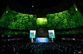 Secretary-General Antonio Guterres addresses the Climate Summit in the United Nations General Assembly at U.N. headquarters in New York.