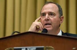 FILE - House Intelligence Committee Chairman Adam Schiff, a Democrat, speaks during a hearing on Capitol Hill in Washington, July 24, 2019.
