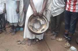 Children are seen shackled at their place of confinement in Kaduna, northern Nigeria, in a photo released by Kaduna Police.