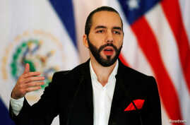 El Salvador's President Nayib Bukele speaks during a news conference in San Salvador, El Salvador Aug. 28, 2019.