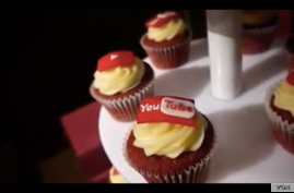 YouTube passed out branded cupcakes at a promotional event in Ho Chi Minh City, Vietnam.