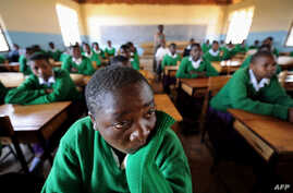 Girls attending school at Mtitu Secondary School where they live and studies during school terms at Kilolo district,…