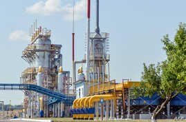 A picture shows a compressor station of Ukraine's Naftogaz national oil and gas company near the northeastern Ukrainian city of…