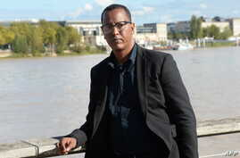 Mauritanian blogger Mohamed Cheikh Ould Mkhaitir poses for a picture two months after he has been released from Mauritanian pris