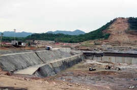 FILE - In this June 28, 2013 file photo, construction work takes place, at the site of the Grand Ethiopian Renaissance Dam near…