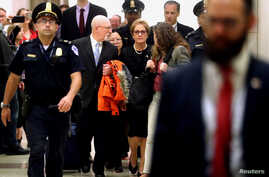Former U.S. ambassador to Ukraine Marie Yovanovitch arrives to testify in the U.S. House of Representatives impeachment inquiry into U.S. President Trump, on Capitol Hill, in Washington, October 11, 2019.
