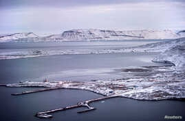A view shows the Thule Air Base, United States Air Force's northernmost base, in the island of Greenland, Oct. 8, 2019.