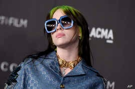 Billie Eilish arrives at the 2019 LACMA Art and Film Gala at Los Angeles County Museum of Art on Saturday, Nov. 2, 2019, in Los…