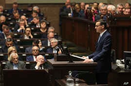 Poland's Prime Minister Mateusz Morawiecki vows to protect U.S. – EU ties and the crucial role of NATO, against criticism from…