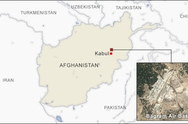 Map of Bagram air base, Afghanistan