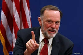 FILE PHOTO: Tibor Nagy, the U.S. Assistant Secretary of State for Africa, speaks during a news conference on the case of Sudan,…