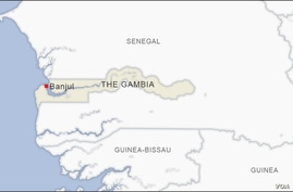Map of The Gambia