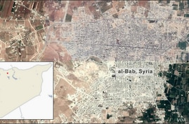 Map of al-Bab Syria