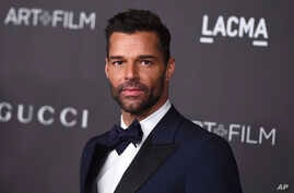 FILE - Ricky Martin at the 2019 LACMA Art and Film Gala in Los Angeles, Nov. 2, 2019.