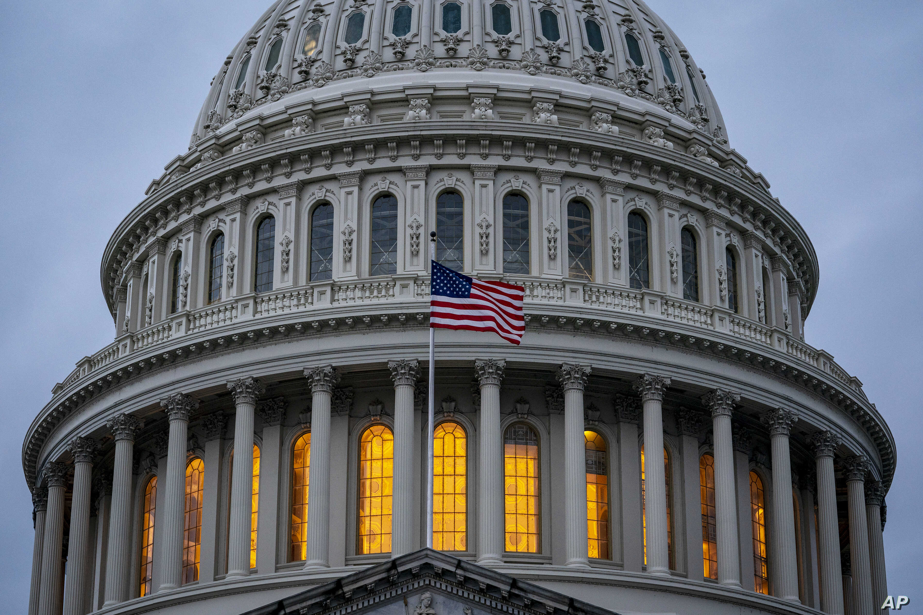 The Capitol is seen in Washington, Tuesday, Dec. 10, 2019, as Democratic leaders in the House are pushing ahead with formal…