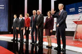 The Democratic presidential candidates in Los Angeles, Dec. 19, 2019.