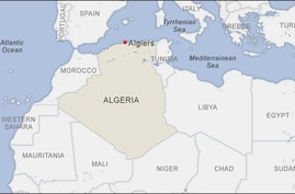 Map of Algeria